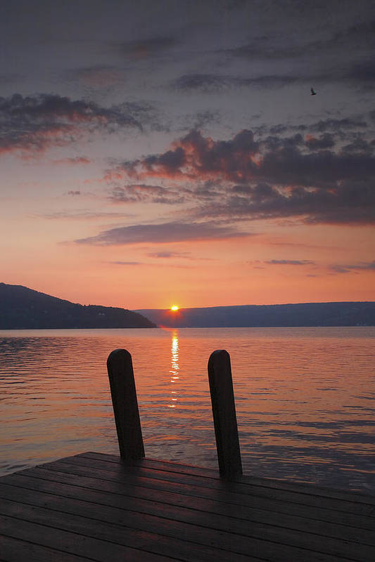 Dawn Poster featuring the photograph Sunrise Over Keuka V by Steven Ainsworth