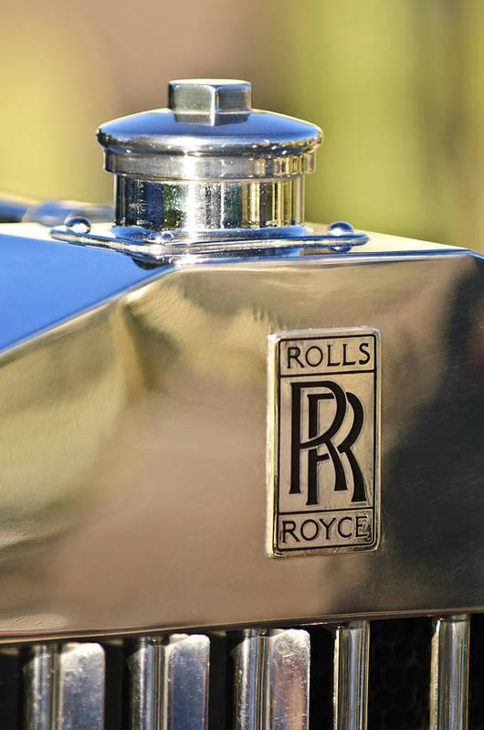 1935 Rolls-royce Phantom Ii Poster featuring the photograph 1935 Rolls-royce Phantom II Hood Ornament by Jill Reger