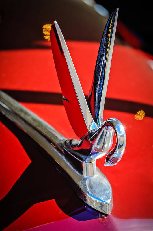 1948 Packard Hood Ornament Poster featuring the photograph 1948 Packard Hood Ornament 2 by Jill Reger