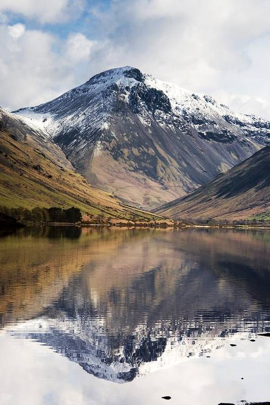 Cumbria Poster featuring the photograph Mountains And Lake, Lake District by John Short