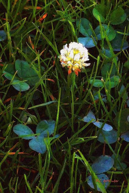 Clover Poster featuring the painting A Little Bit Of Luck by RC DeWinter