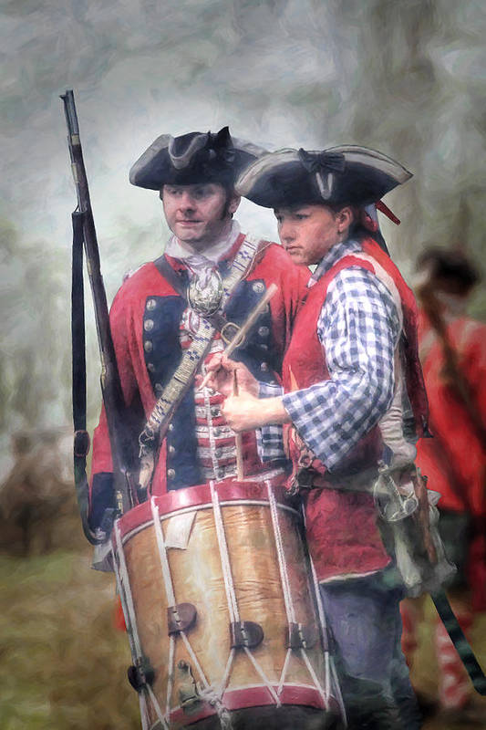 War Poster featuring the digital art Battle Drums by Randy Steele