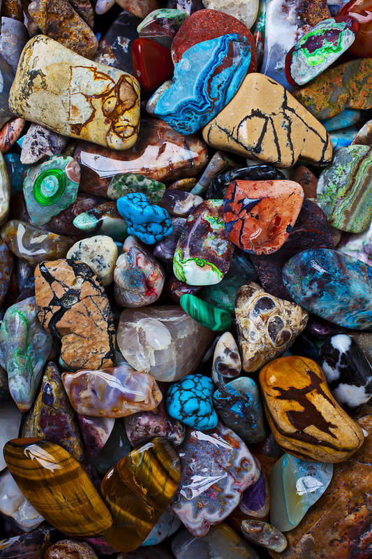 Stone Poster featuring the photograph Beautiful Stones by Garry Gay