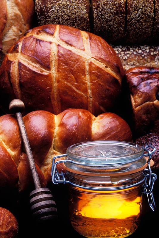 Bread Poster featuring the photograph Bread And Honey by Garry Gay