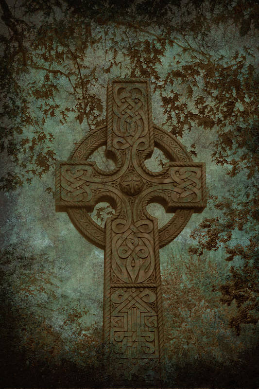 Cross Poster featuring the photograph Celtic Cross 2 by Bernice Williams