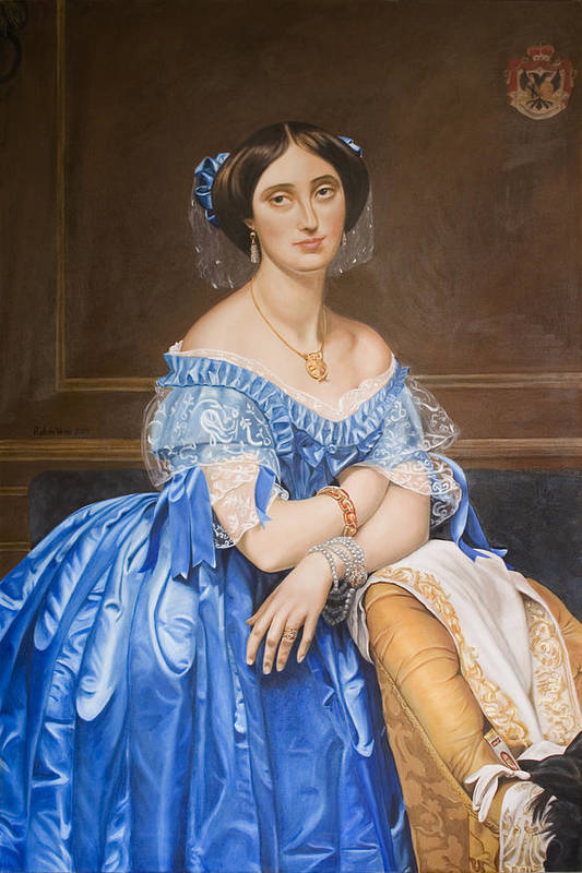 Ingres Poster featuring the painting Copy After Ingres by Rob De Vries