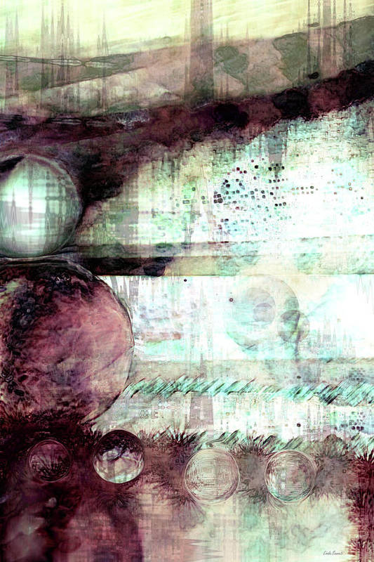 Dream Art Poster featuring the digital art Far Dreaming by Linda Sannuti
