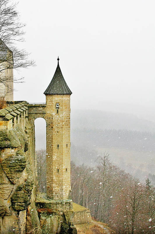 Fortresses Poster featuring the photograph Germany - Elbtal From Festung Koenigstein by Christine Till