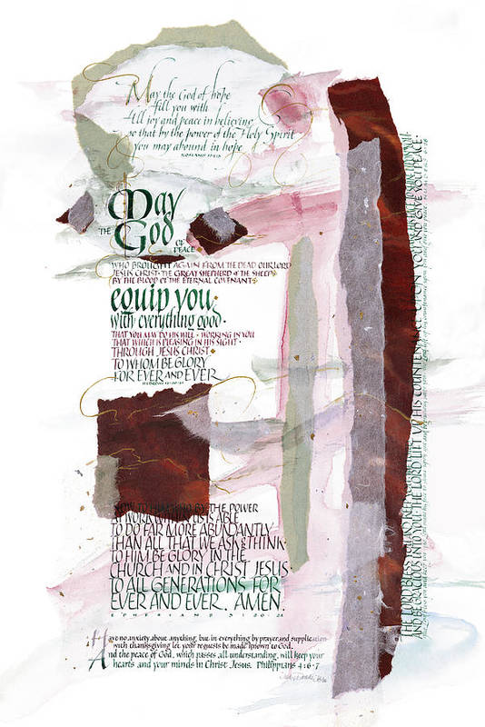 Aaron's Blessing Poster featuring the painting God Of Hope by Judy Dodds