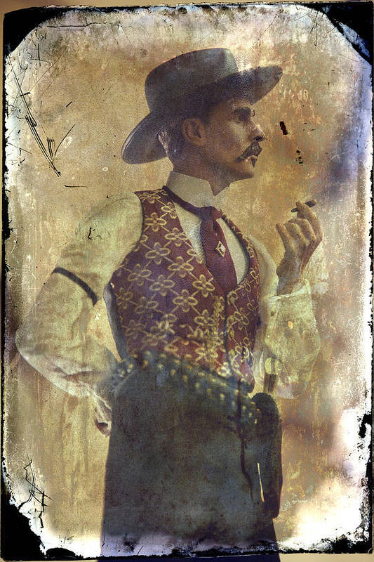 Gunslinger Iii Doc Holliday In Fine Attire Poster By Toni