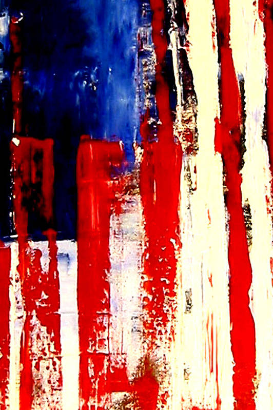 Flag Poster featuring the painting Independence Day by Charles Jos Biviano