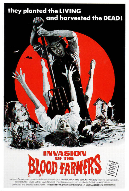1970s Poster Art Poster featuring the photograph Invasion Of The Blood Farmers, Poster by Everett