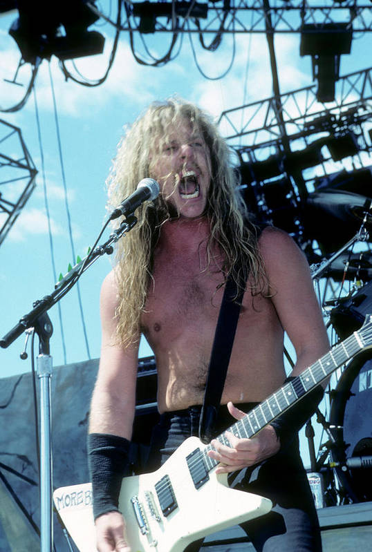 James Hetfield Poster featuring the photograph James Hetfield by Rich Fuscia