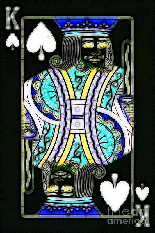 Card Poster featuring the photograph King Of Spades - V2 by Wingsdomain Art and Photography