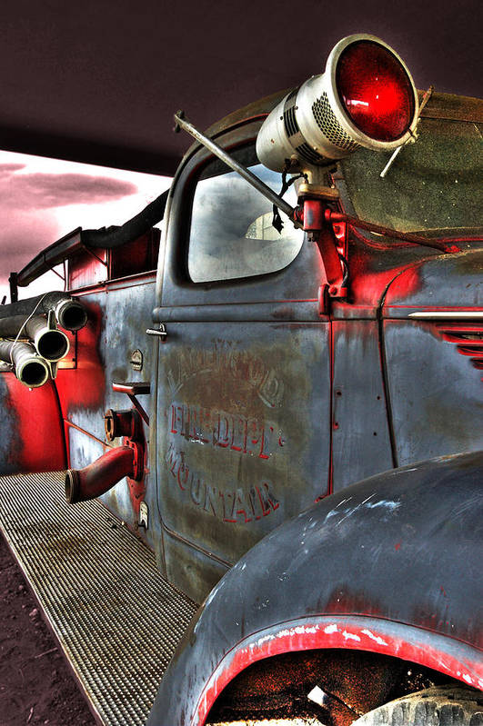 Firetruck Poster featuring the photograph Lakewood Mountair Fire Dept. by Kevin Munro