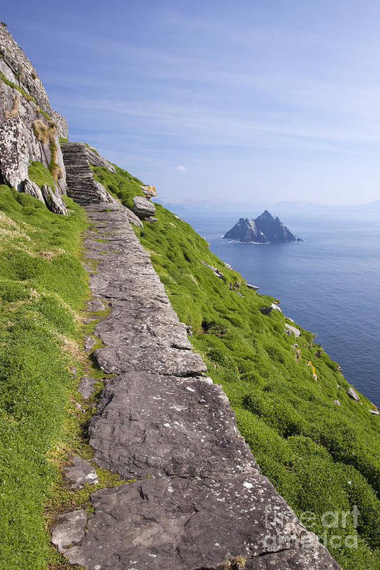 Little Poster featuring the photograph Little Skellig Island, From Skellig Michael, County Kerry Ireland by Peter Barritt