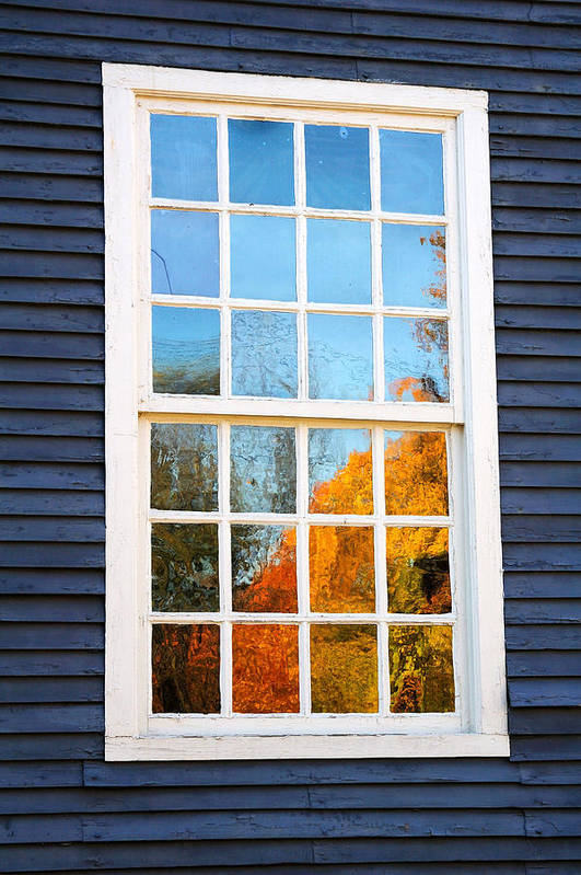 Colonial Poster featuring the photograph October Reflections 4 by Edward Sobuta