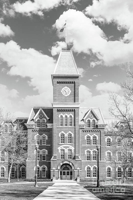 Big Ten Conference Poster featuring the photograph Ohio State University Hall by University Icons