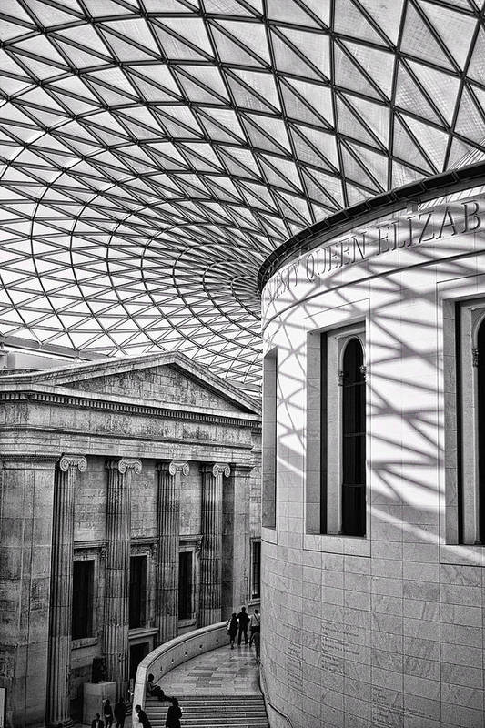 British Museum Poster featuring the photograph Old And New by Heather Applegate