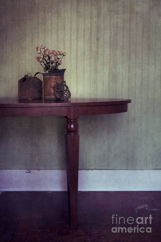 Rusty Poster featuring the photograph Old And Rusty by Priska Wettstein
