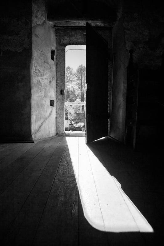 Architecture Poster featuring the photograph Open Door by Gabriela Insuratelu