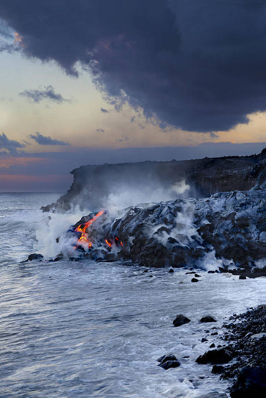 A'a Poster featuring the photograph Pacific Lava Flow by Dave Fleetham - Printscapes
