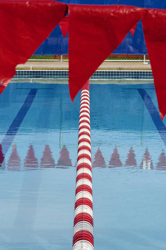 Flag Poster featuring the photograph Pool by Skip Hunt