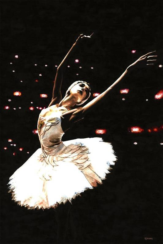 Prima Ballerina Poster featuring the painting Prima Ballerina by Richard Young