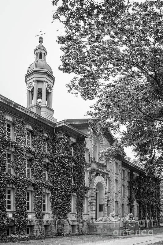 Princeton University Poster featuring the photograph Princeton University Nassau Hall by University Icons