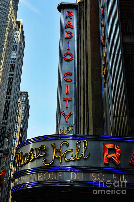 Radio City Music Hall Poster featuring the photograph Radio City Music Hall by Paul Ward