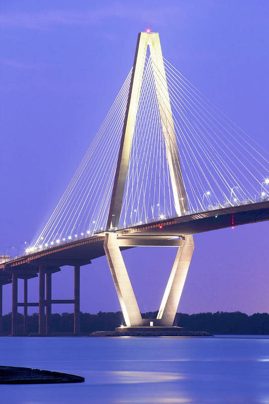 Arch Poster featuring the photograph Ravenel Lights by Drew Castelhano