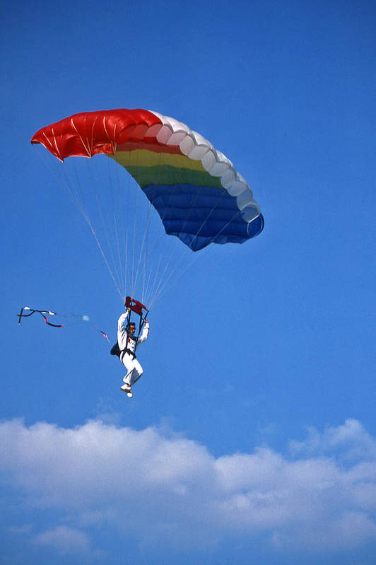 Tennessee Poster featuring the photograph Skydiving - 1 by Randy Muir