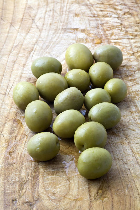 Olives Poster featuring the photograph Spanish Manzanilla Olives by Frank Tschakert