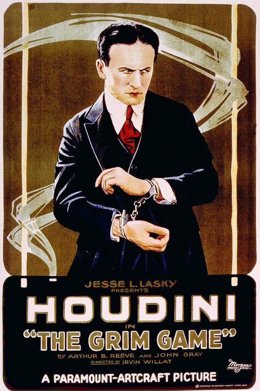 1910s Movies Poster featuring the photograph The Grim Game, Harry Houdini, 1919 by Everett