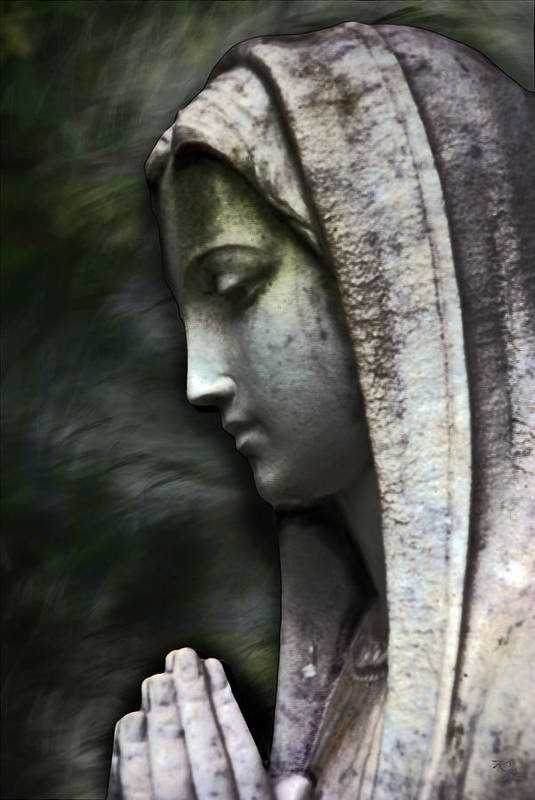 Mother Mary Poster featuring the photograph The Prayer by Kelly Rader