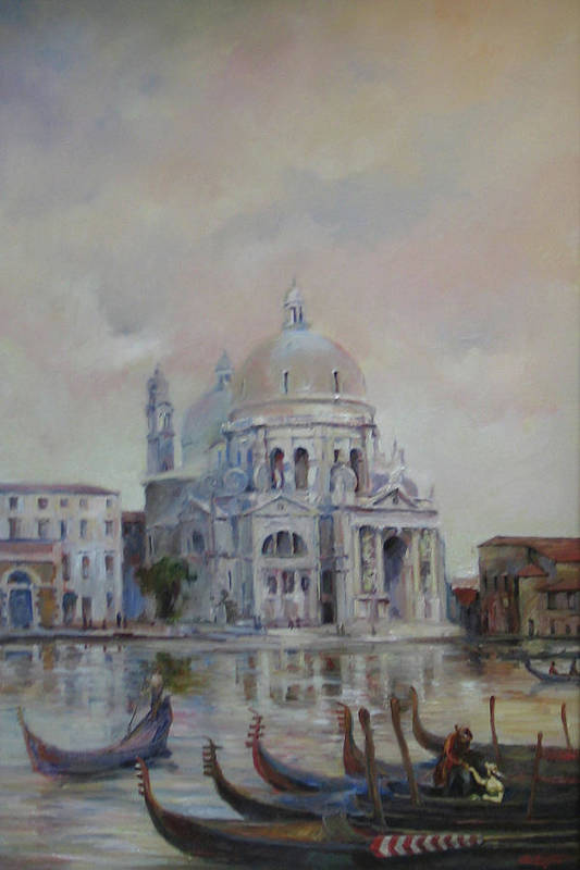 Venice Poster featuring the painting Venice by Tigran Ghulyan
