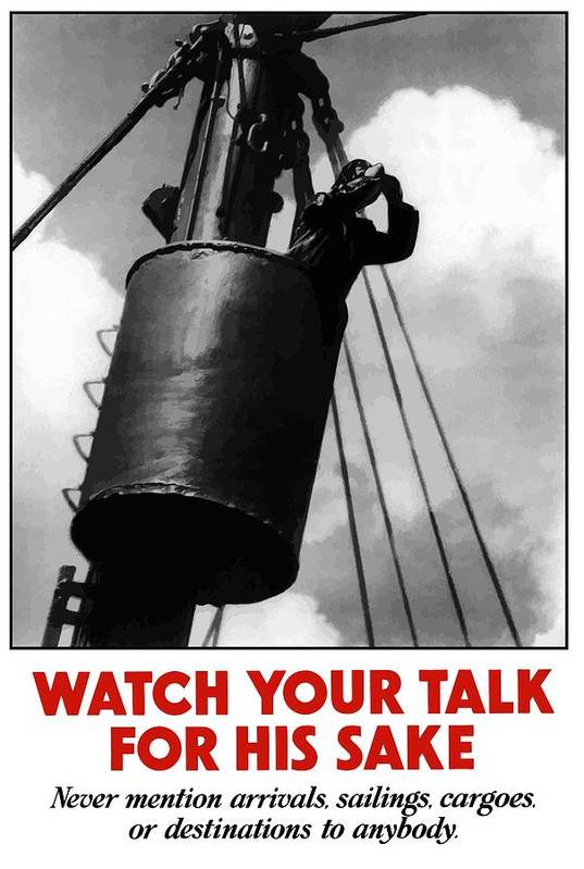 Sailor Poster featuring the painting Watch Your Talk For His Sake by War Is Hell Store
