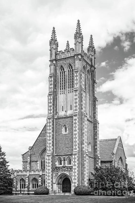 Williams Poster featuring the photograph Williams College Thompson Memorial Chapel by University Icons