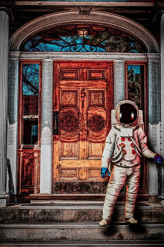 Spaceman Poster featuring the photograph Wrong Address by Bob Orsillo