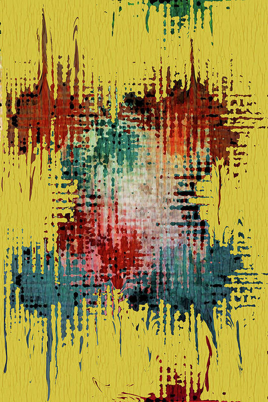 Mixed Media Art Poster featuring the digital art X Marks The Spot by Bonnie Bruno