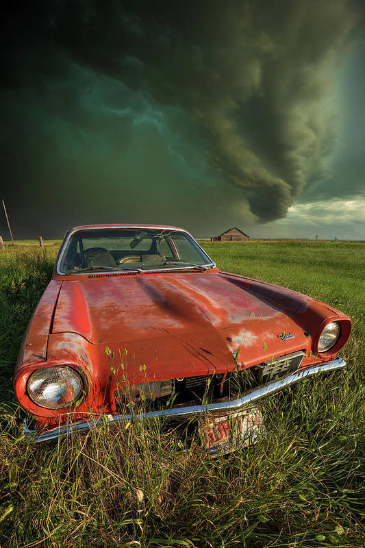 A Windy Violent Storm Poster featuring the photograph Tempest by Aaron J Groen