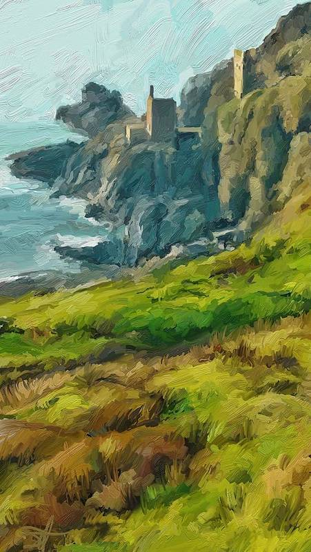 Ipad Poster featuring the digital art Wheal Bottallack by Scott Waters