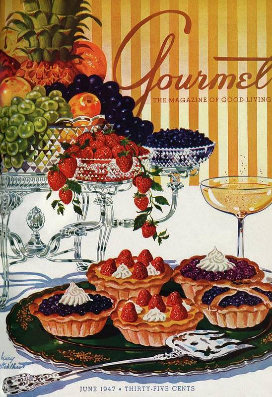 Food Poster featuring the photograph Gourmet Cover Of Fruit Tarts by Henry Stahlhut