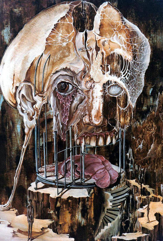 Surrealism Poster featuring the painting Deterioration Of Mind Over Matter by Otto Rapp