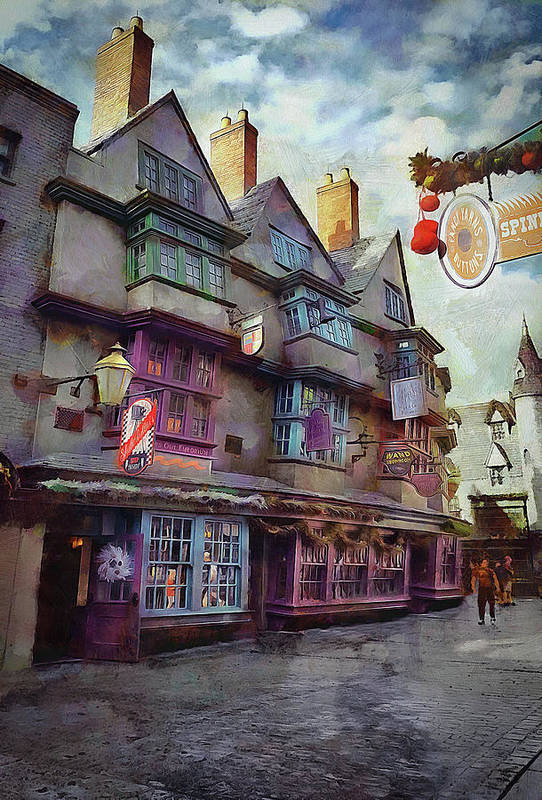 Diagon Alley Poster featuring the photograph Shops Of Diagon Alley by Cedric Hampton