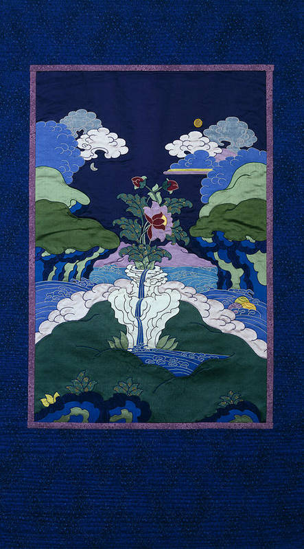 Landscape Poster featuring the tapestry - textile Beauty by Leslie Rinchen-Wongmo