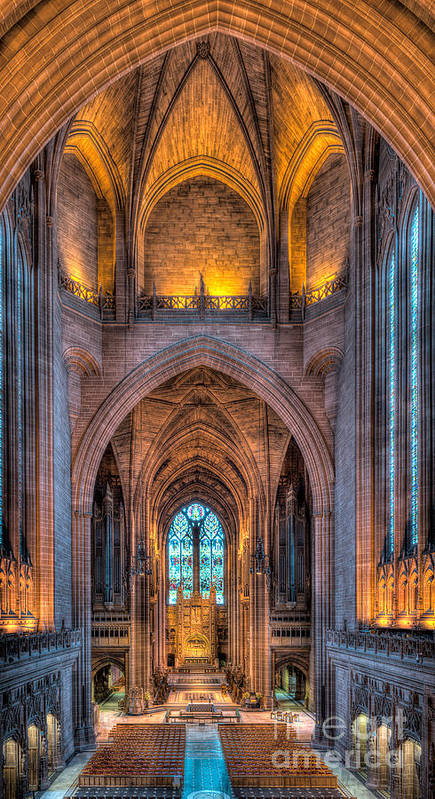 Aisle Poster featuring the photograph Ghost In The Cathedral by Adrian Evans