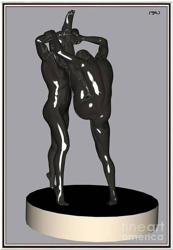 Modern Painting Poster featuring the painting erotic acrobatics 1EA 1 by Pemaro