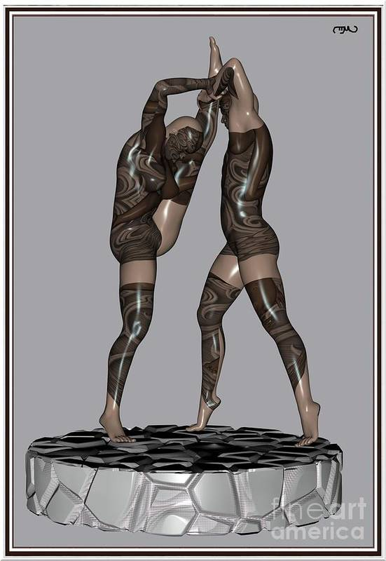 Modern Painting Poster featuring the painting erotic acrobatics 2EA 1 by Pemaro