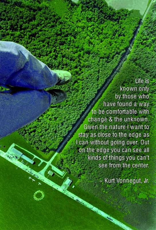 Quotation Poster featuring the photograph From The Edge by Mike Flynn